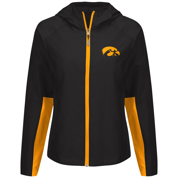 Iowa Hawkeyes Womens Full Zip Light Weight Jacket